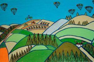 Жани рисува България