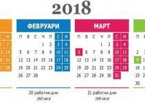почивни дни 2018